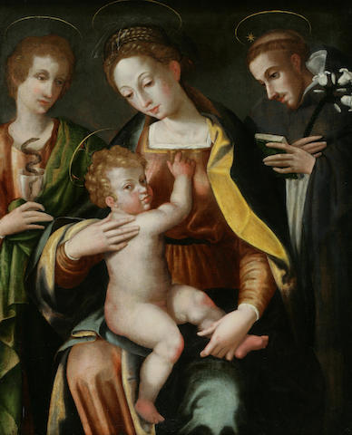 Florentine School, 16th Century The Virgin and Child  36 1/4 x 29 1/4in (92 x 74.3cm)