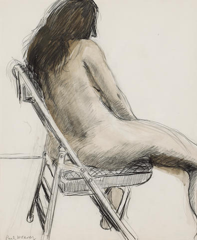 Paul Wonner (American, 1920-2008) Untitled (Seated Model), c. 1969 17 x 14in (43 x 35cm)