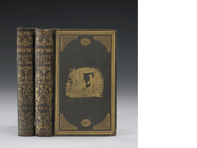 Stowe, Harriet Beecher. Uncle Tom's Cabin. Boston: 1852. 1st ed. in gift binding. 1st ed, 1st printing w/ all textual points.