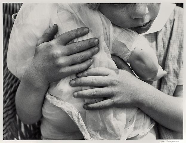 Alma Lavenson (American, 1897-1989); Child with Doll;