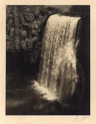 Ansel Adams (American, 1902-1984); Rainbow Falls, Yosemite National Park;