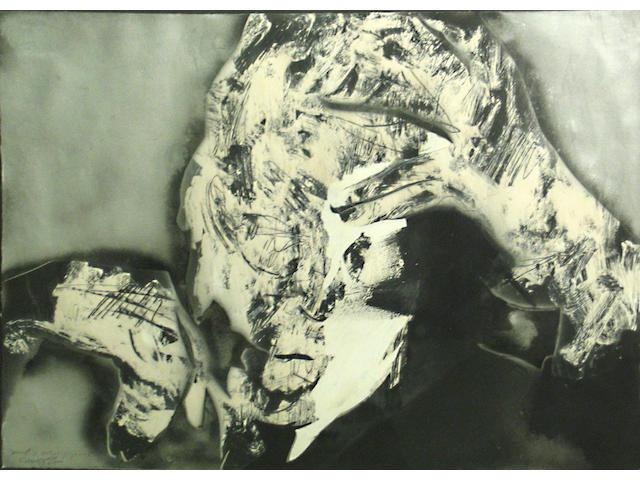 Rafael Canogar (Spanish, 1935) Head of Ortega / Gosset, 1965 19 1/4 x 26 1/4in