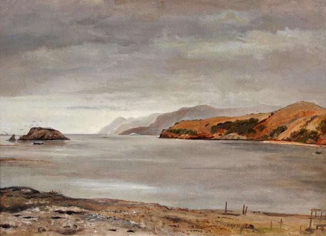 DeWitt Clinton Lockwood, Santa Catalina Island, o/c, unsigned, 1890s