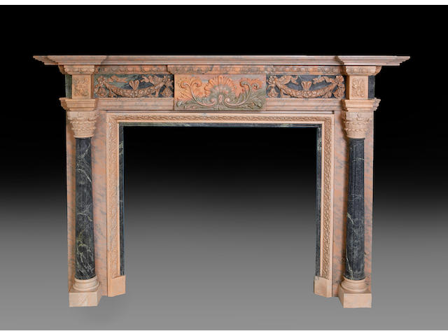 A George III style carved marble fire surround