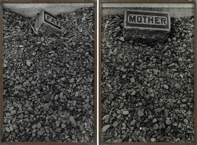 Sophie Calle (French, born 1953) Les Tombes (Father Mother), 1990 (2 parts) each 23 5/8 x 15 3/4in (60 x 40cm)