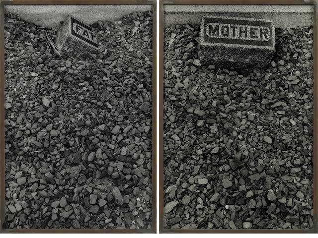Sophie Calle (French, born 1953) Les Tombes (Father Mother), 1990 (2) each 23 5/8 x 15 3/4in (60 x 40cm)
