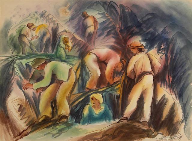 Nicholas P. Brigante (American, 1895-1989) Worker Series #40, 1944 20 1/4 x 27in (51 x 68cm)