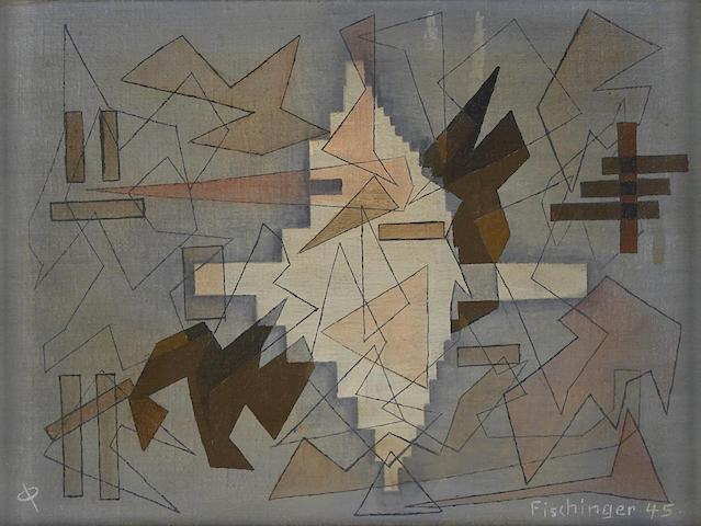 Oskar Fischinger (German/American, 1900-1967) Winter, 1945 8 1/4 x 11in (21 x 28cm)