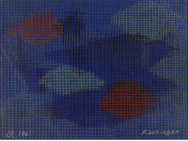 Oskar Fischinger (German/American, 1900-1967) Grids in Space, 1961 6 x 8in (15 x 22cm)