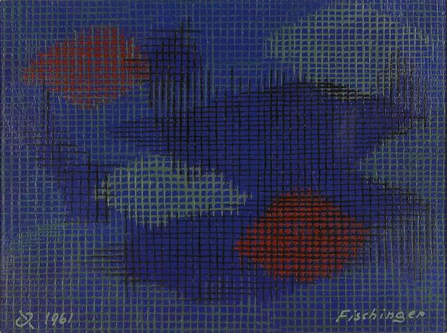 Oskar Fischinger (German/American, 1900-1967) Grids in Space, 1961 6 x 8in (15 x 22cm)