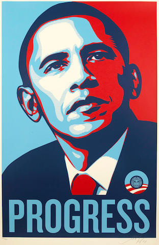 Shepard Fairey (American, born 1970); Progress;