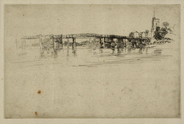 James Abbott McNeill Whistler (American, 1834-1903); Little Putney, No. 1;