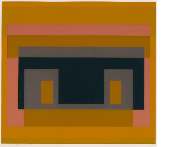 Josef Albers (American, 1888-1976); Variant VIII, from Ten Variants ;