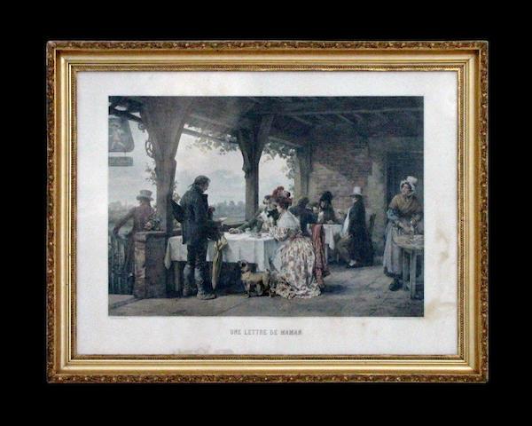 Bonhams After Pierre Outin French 1840 1899 Une Lettre