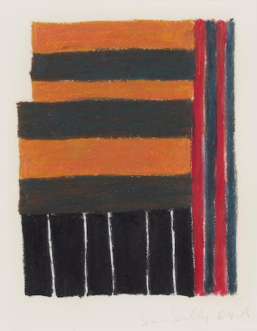 Sean Scully (Irish, born 1946) Untitled, 1983 13 x 9 1/4in (33 x 48.8cm)