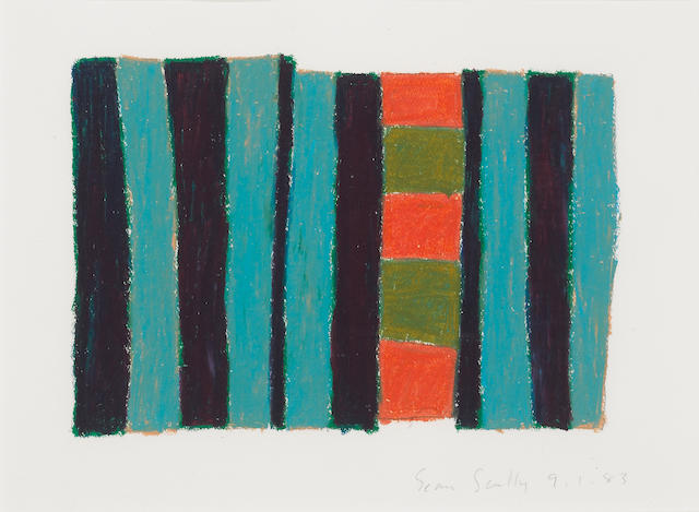 Sean Scully (Irish, born 1946) Untitled, 1983 15 x 21 1/4in (38.1 x 53.9cm)