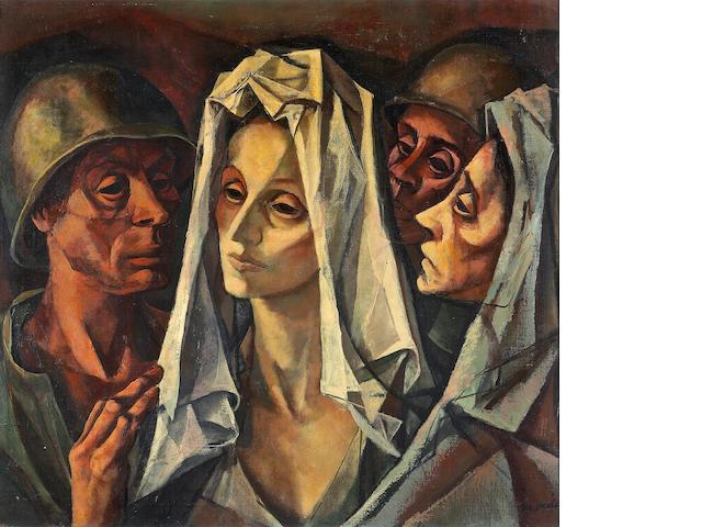 Francis De Erdely (Hungarian/American, 1904-1959) Untitled (Sorrow) 28 x 30in (71 x 76cm)