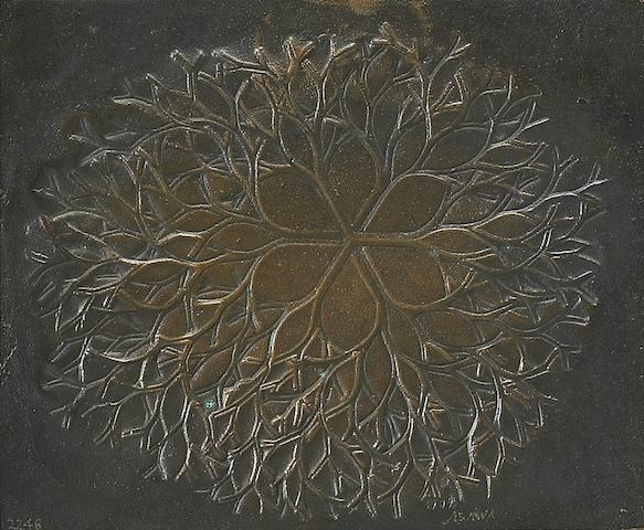 Ruth Asawa (American, born 1926) Untitled, 1979 5 1/4 x 6 1/4 x 1/4in (13 x 16 x 1cm)  mount 6 x 8 x 3/4in (15 x 20 x 2cm)