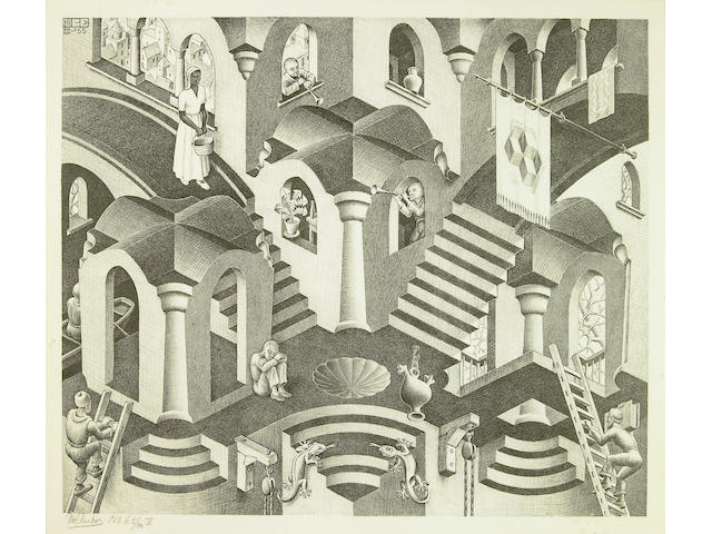 Maurits Cornelis Escher (Dutch, 1898-1972); Convex and Concave;