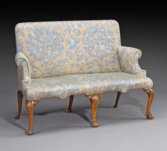 A George III walnut settee