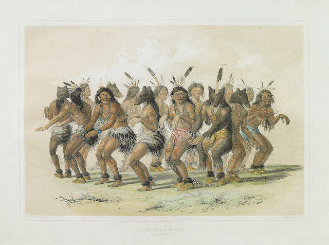 After George Catlin (American, 1794-1872); The Bear Dance (Pl. 18);