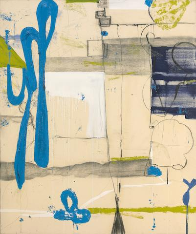 Tom Savage (American, born 1953) Untitled (With Blue Form), 1995 64 1/4 x 54in (163 x 137cm)