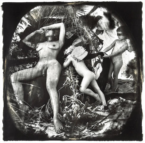 Joel-Peter Witkin (American, born 1939); DUPE OF MOLLIE KEITH'S  Venus and Cupid: The Causasian View of History, Los Angeles;