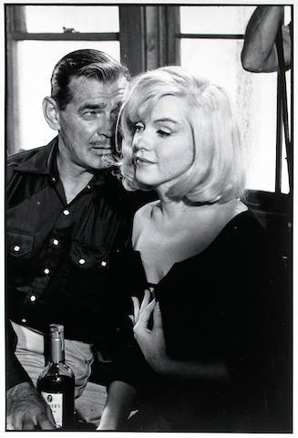 Inge Morath (Austrian, 1923-2002); Marilyn Monroe and Clark Gable on set of The Misfits;