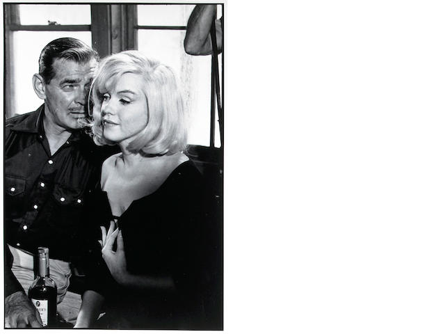 Inge Morath (Austrian, 1923-2002); Marilyn Monroe and Clark Gable on set of The Misfits;