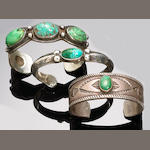 Three Navajo bracelets