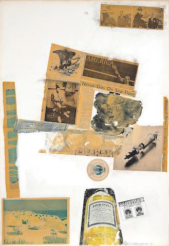 Robert Rauschenberg (American, 1925-2008) Letter Head, 1970 40 x 27 1/2in (101.6 x 69.8cm)