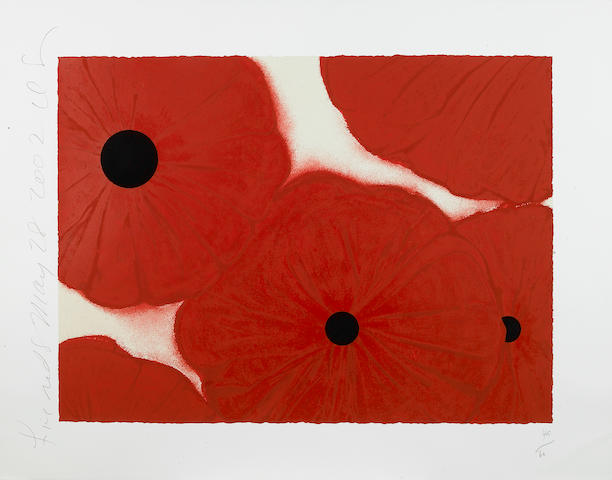 Donald Sultan (American, born 1951); Five Reds, May 28, 2002;