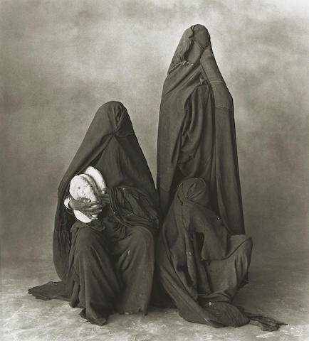 Irving Penn (American, born 1917); Three Women of Rissani, Morocco;