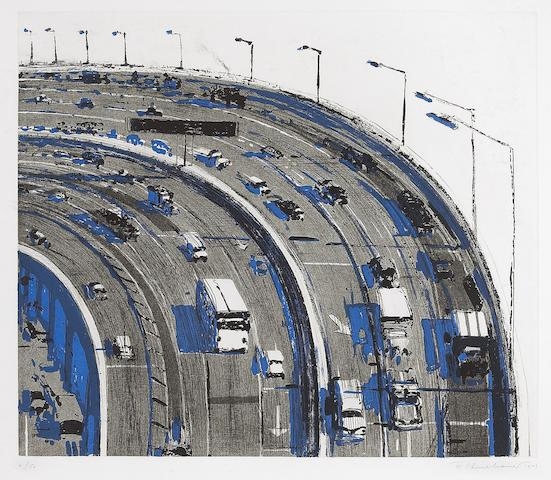Wayne Thiebaud (American, born 1920); Freeway Curve, from Recent Etchings I;