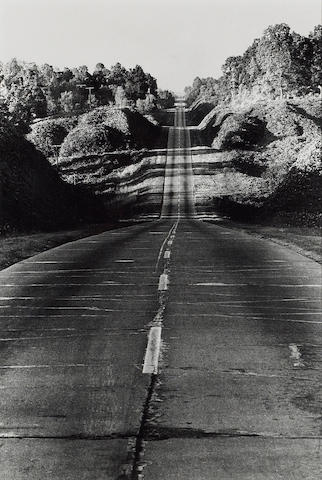 Danny Lyon (American, born 1942); Highway 49 from Jackson to Yazoo City, the entrance to the Delta;