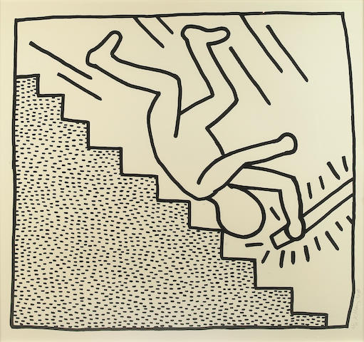 Keith Haring (American, 1958-1990); from Blueprint Drawings;