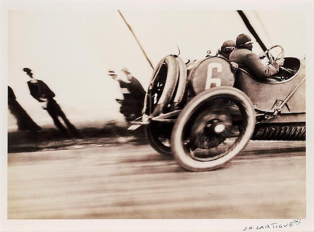 Jacques-Henri Lartigue (French, 1894-1986); Grand Prix de l'A.C.F., Automobile Delage;