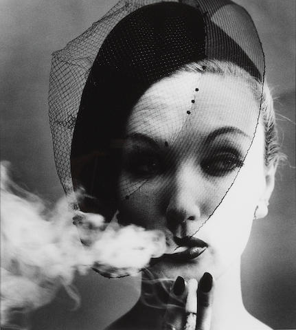 William Klein (American, born 1928); Smoke   Veil, Paris, for Vogue;