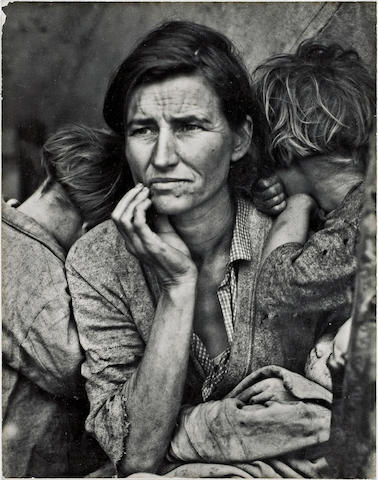 Dorothea Lange (American, 1895-1965); Migrant Mother, Nipomo, California;