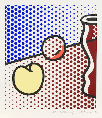 Roy Lichtenstein (American, 1923-1997); Still Life with Red Jar;