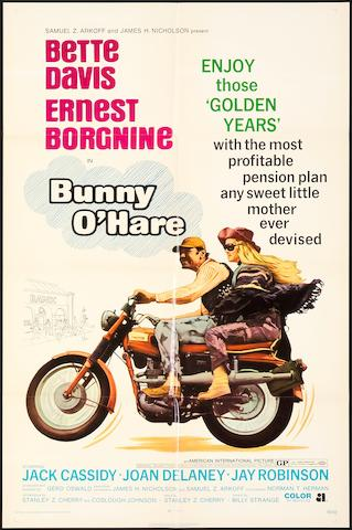 "A movie poster for ""Bunny O'Hare"", American 1971,"