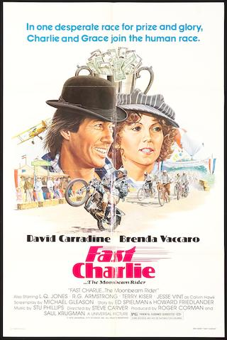 A 'Fast Charlie....The Moonbeam Rider' movie poster, American 1979,