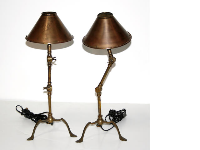 Two French ariculated lamps
