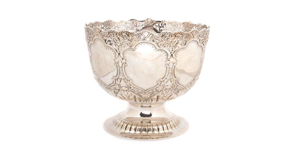 Edward VII Silver Large Pedestal Bowl