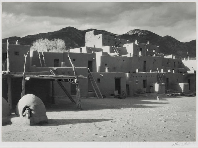 Ansel Adams (American, 1902-1984); North House, Taos Mountain, New Mexico;
