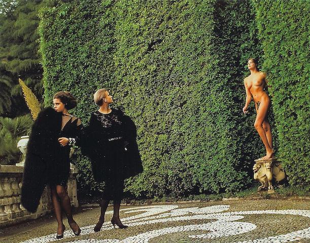 Helmut Newton (German, 1920-2004); Another World...of Dressing, Vogue magazine;