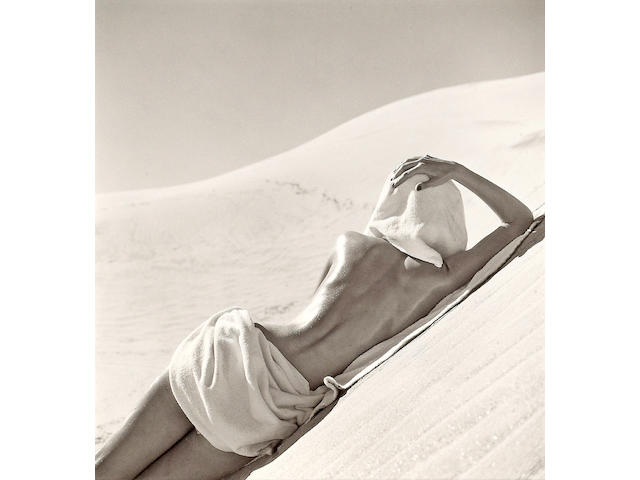 Louise Dahl-Wolfe (American, 1895-1989); Nude in Mojave Desert, California;