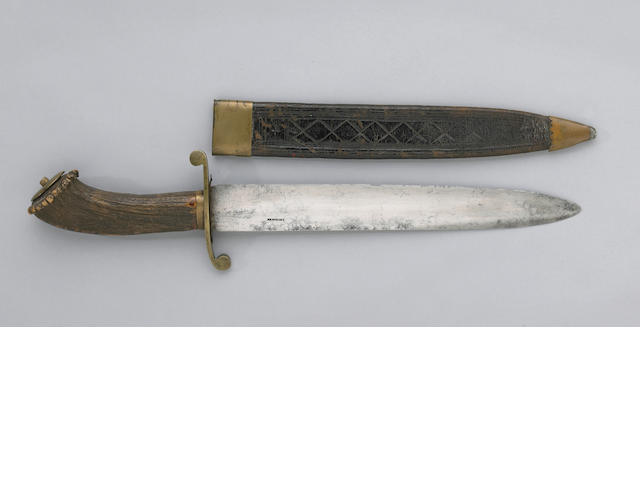 A rare and massive American bowie knife by George Stewart