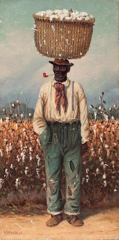 William Aiken Walker (American, 1838-1921) The cotton farmer 12 1/4 x 6 1/8in