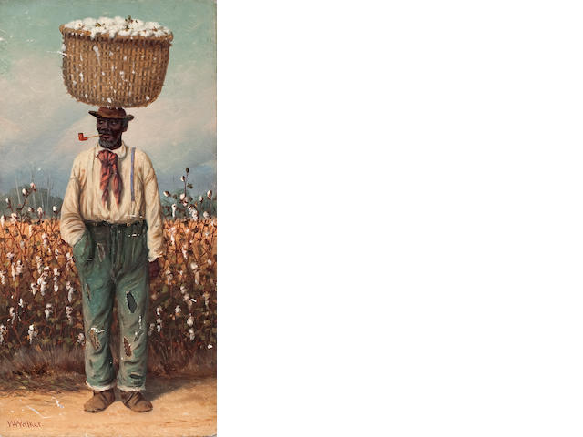 William Aiken Walker (American, 1838-1921) The cotton farmer 12 1/4 x 6 1/8in
